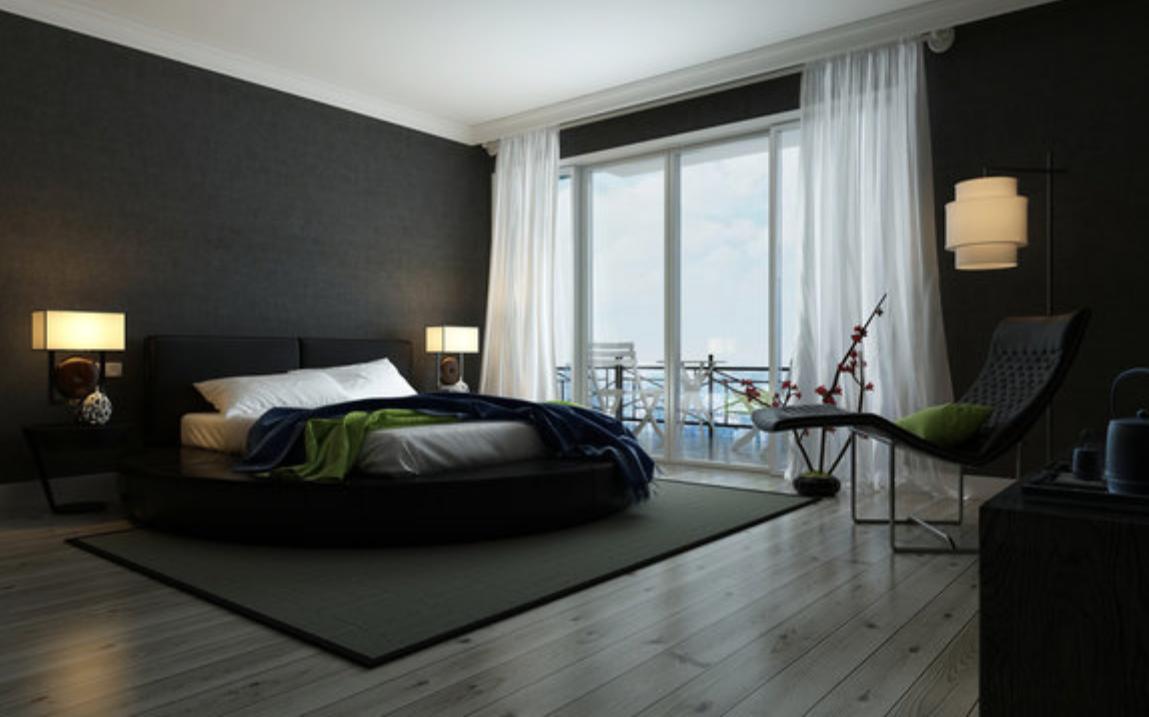 Quali colori scegliere per la camera da letto? Black & White