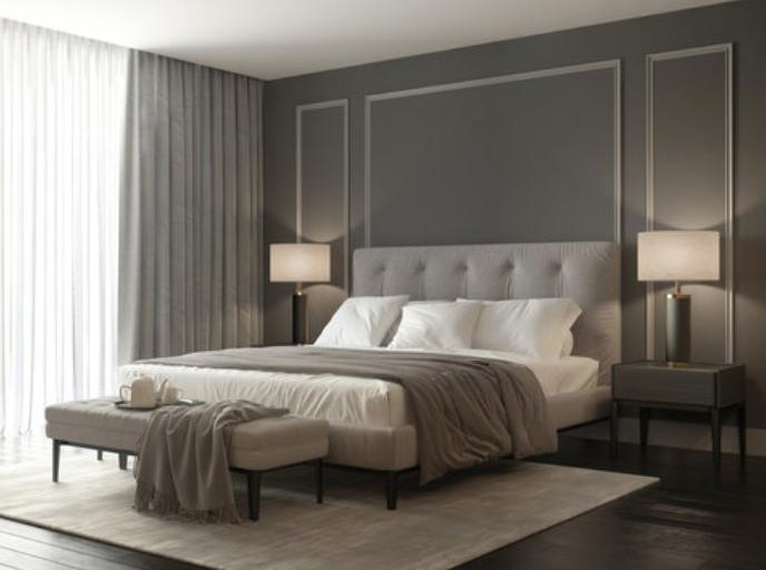 esempio colore parete grigio caldo camera da letto
