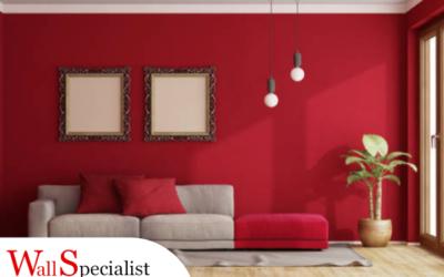 Pareti color rosso fragola, ideale per toni passionali